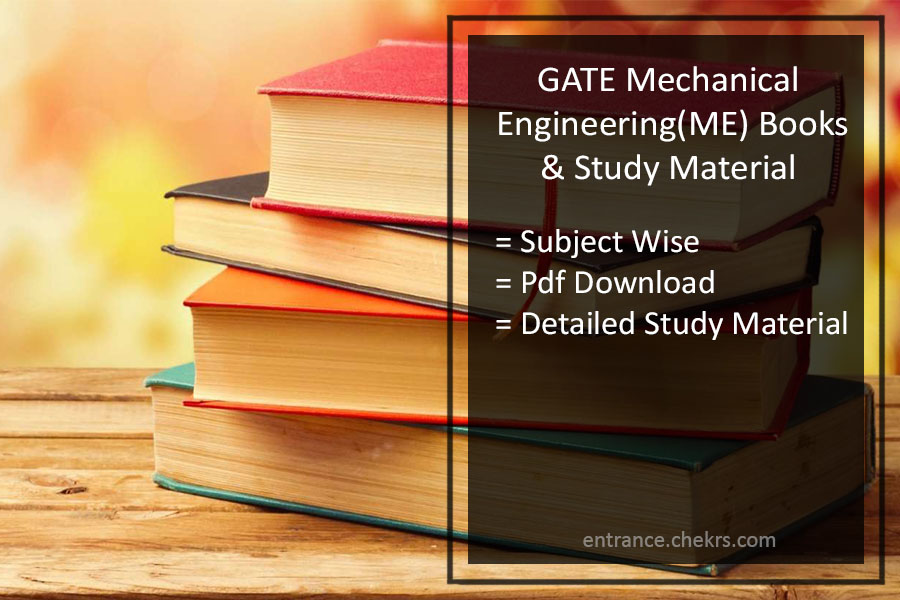 GATE Books for Mechanical Engineering (ME)- Pdf Download