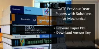 GATE Mechanical Previous /Old Question Paper- Solution Pdf Download