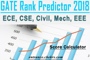 GATE Rank Predictor, Score Calculator, Checker for ECE, CSE, Civil, Mech, EEE