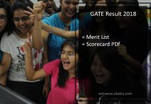 GATE Result Merit List, Score Card- ECE, CSE, Civil, Mechanical, Electrical Engineering