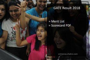 GATE 2018 Results, GATE Result Merit List, Score Card- ECE, CSE, Civil, Mechanical, Electrical Engineering