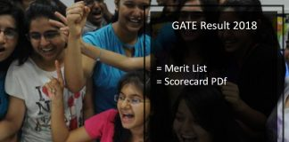 GATE Result Merit List, Score Card- ECE, CSE, Civil, Mechanical, Electrical Engineering