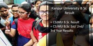 kanpur university B.Sc Result- 1st, 2nd, 3rd Year, CSJMU B.Sc Result