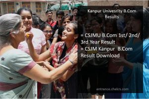 Kanpur university b.com 1st/ 2nd/ 3rd Year Result, CSJM B.Com Results Download