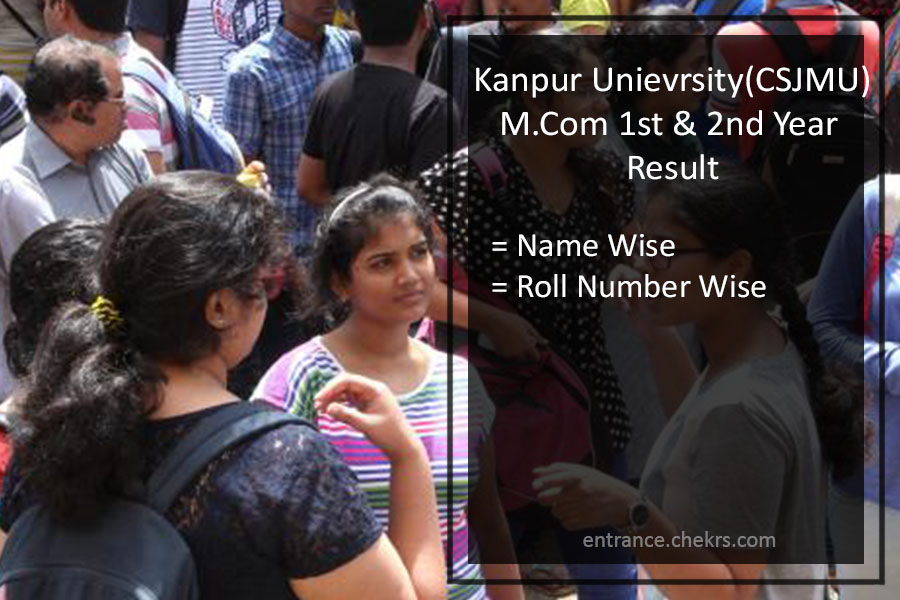 Kanpur University (CSJMU) MA MSC MCom Result- Regular & Private 1st 2nd Year Scorecard