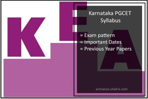 Karnataka (KEA) PGCET- Syllabus, Exam Pattern, Dates, Previous Papers
