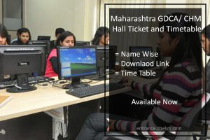 Maharashtra GDCA Exam Hall ticket Download Time Table, Admit Card
