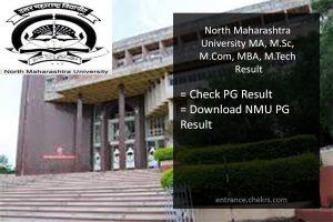 NMU MA MSC MCOM MCA M.Tech MBA Result, 1st 2nd Year Result