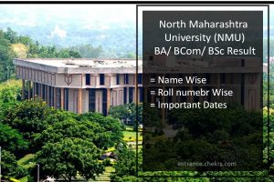 NMU FY-SY-TY BA BSC BCOM Result - North Maharashtra University Results