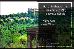 North Maharashtra University (NMU) BBA LLB Result- nmu.ac.in Results