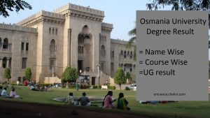 Osmania University Degree Result March Exam Results @osmania.ac.in