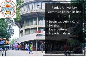 PUCET Admit Card, UG PG Exam Dates & Pattern, Syllabus