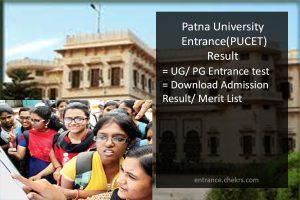 Patna University CET Result- PUCET Cut Off Marks, UG PG Merit List