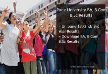 Pune University FY-SY-TY BA B.Sc B.Com Result. unipune 1st/ 2nd/ 3rd Year Results