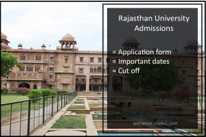Rajasthan University Admissions Application form Start from 1st June- Apply online @uniraj.ac.in