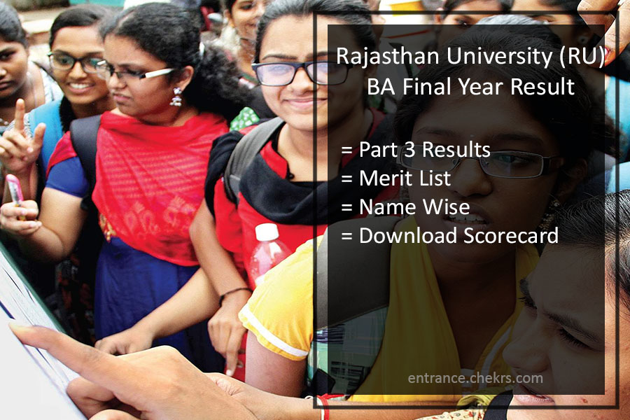 Uniraj BA Part 3 Result- Rajasthan University 3rd Year Results Download