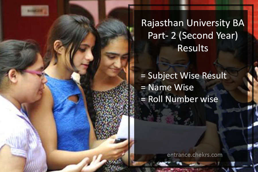 Rajasthan University (RU) BA Part 2 Result- Uniraj 2nd Year Merit List