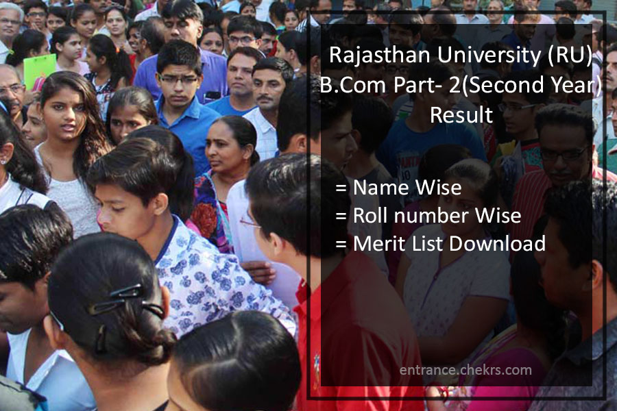 Uniraj B.Com Part 2nd Year Result- Rajasthan University B.Com Results