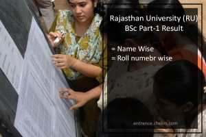 Rajasthan University (RU) BSc 1st Year Result- Uniraj BSc Part 3 Results