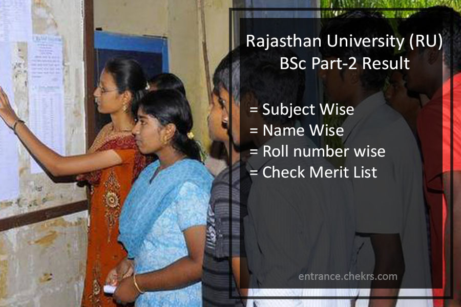 Rajasthan University BSc 2nd Year Result- Uniraj BSc Part 2 Merit List