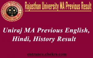 Rajasthan University MA Previous Result 2017- Uniraj 1st Year Hindi, English Result