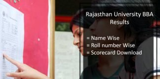 Rajasthan University BBA Result- Uniraj 1st 2nd 3rd Year Results