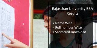 Rajasthan University BBA Result- Uniraj 1st 2nd 3rd Year Results