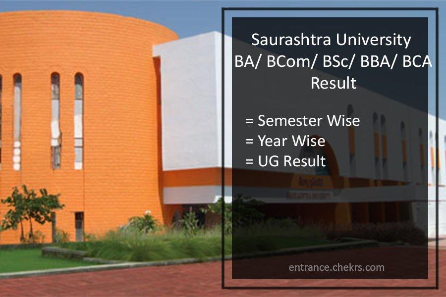 Saurashtra University Results- BA BSC BCOM BCA BBA 2-4-6 Sem Result