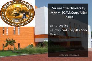 Saurashtra University MA MSC MCOM MBA Result, Sem 2nd 4th Results