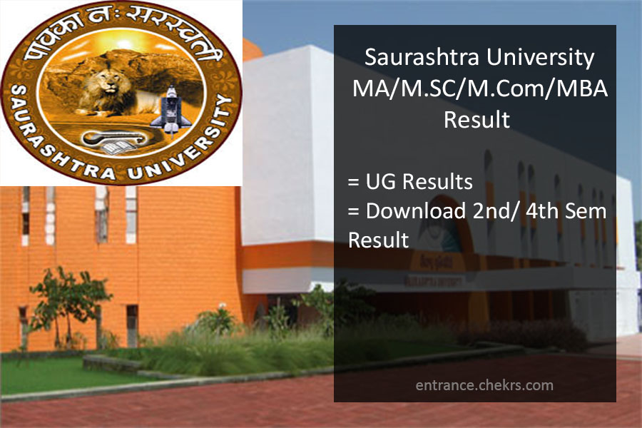 Saurashtra University MA MSC MCOM MBA Result, Sem 2nd 4th Results