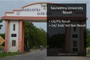 Saurashtra University MA MSC MCOM MBA Result , Sem 2nd 4th Results