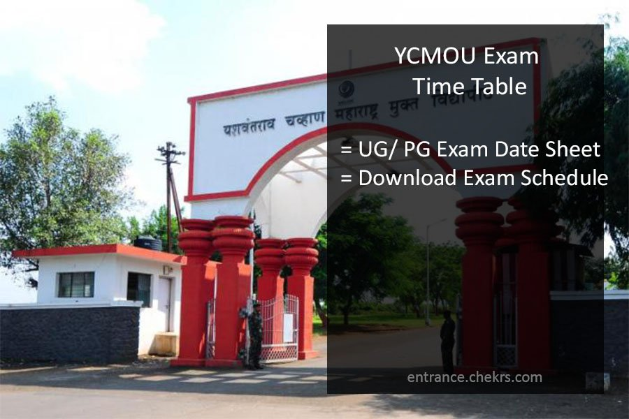 YCMOU May Exam Date sheet 1st 2nd 3rd Year Time Table