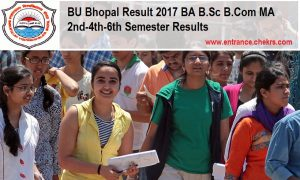 BU Bhopal Result, BA B.Sc B.Com MA 2nd-4th-6th Semester Results