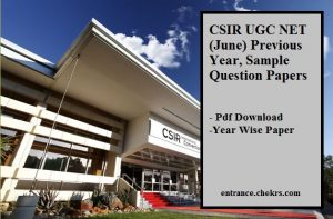 CSIR UGC NET (June) Previous Year, Sample Question Papers Pdf Download
