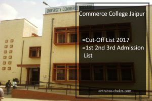 Commerce College Jaipur Cut-Off List , 1st 2nd 3rd Admission List
