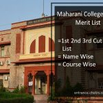 Maharani College Merit List Jaipur- 1st 2nd 3rd Cut Off List