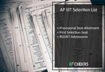 AP IIIT Selection List - RGUKT First Provisional Seat Allotment Released