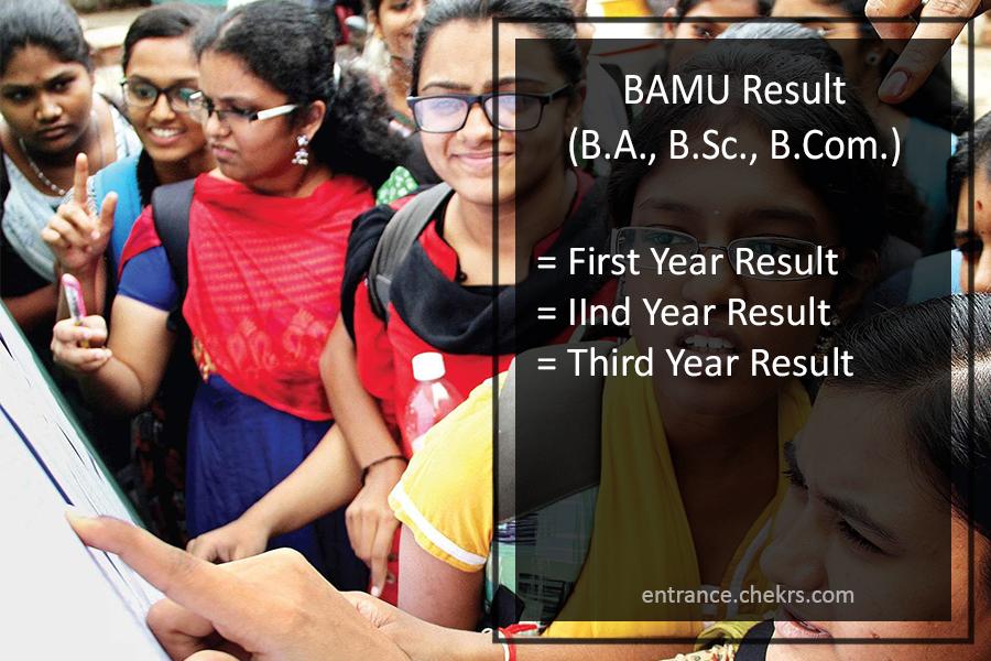 BAMU Result- Digital University BA B.SC B.Com 1st-2nd-3rd Year Results