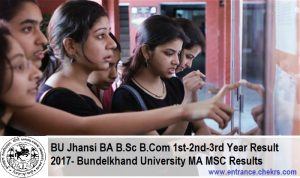 BU Jhansi BA B.Sc B.Com 1st-2nd-3rd Year Result, Bundelkhand University MA MSC Results