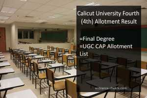 Calicut University Fourth (4th) Allotment Result, Final Degree UGC CAP Allotment List