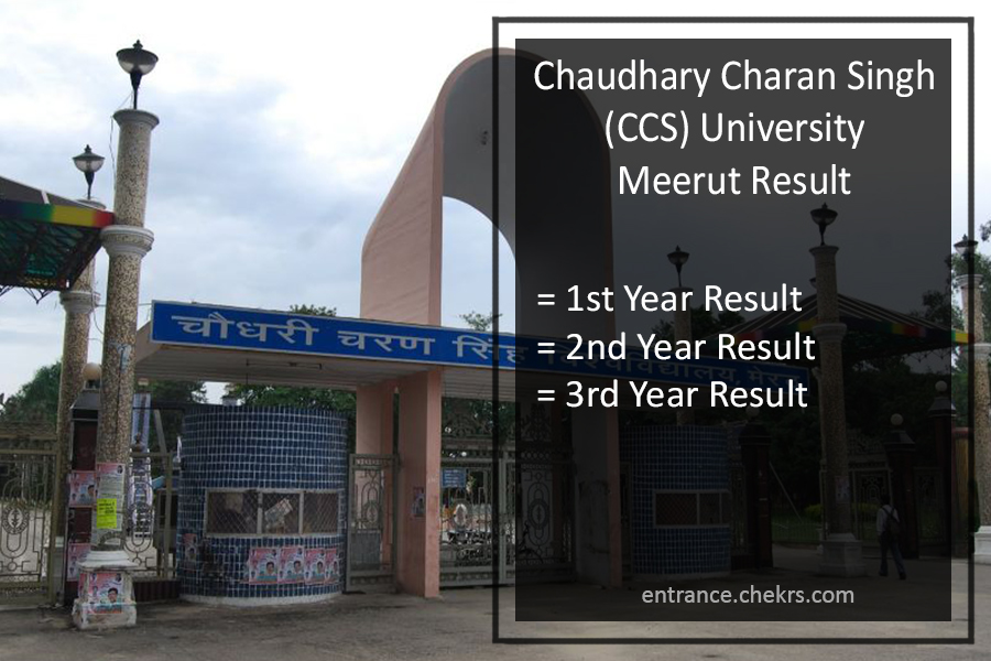 CCS Meerut Result, BA B.Sc B.Com (1st 2nd 3rd) Year Results