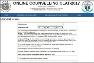CLA Counselling,1st 2nd 3rd 4th Seat Allotment List, Merit List