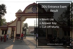 DDU Entrance Exam Result