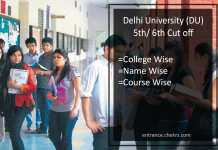 DU 5th 6th Cut Off List du.ac.in Merit/ Admission List
