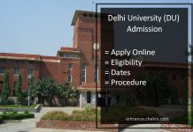 Delhi University (DU) Admission, Apply Online, Eligibility, Dates, Procedure
