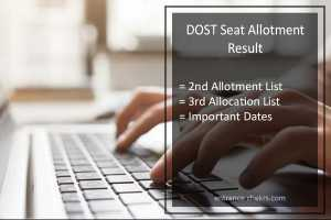 DOST Seat Allotment Result , 2nd/ 3rd List @dost.cgg.gov.in