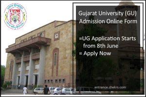 Gujarat University (GU) Admission, Online Form, UG Application Starts from 8th June