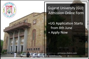 Gujarat University (GU) Admission, Online Form, UG Application Starts from 8th June