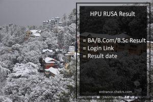 HPU RUSA Result- hpuniv.in BA BSC BCOM 2nd 4th 6th Sem Results