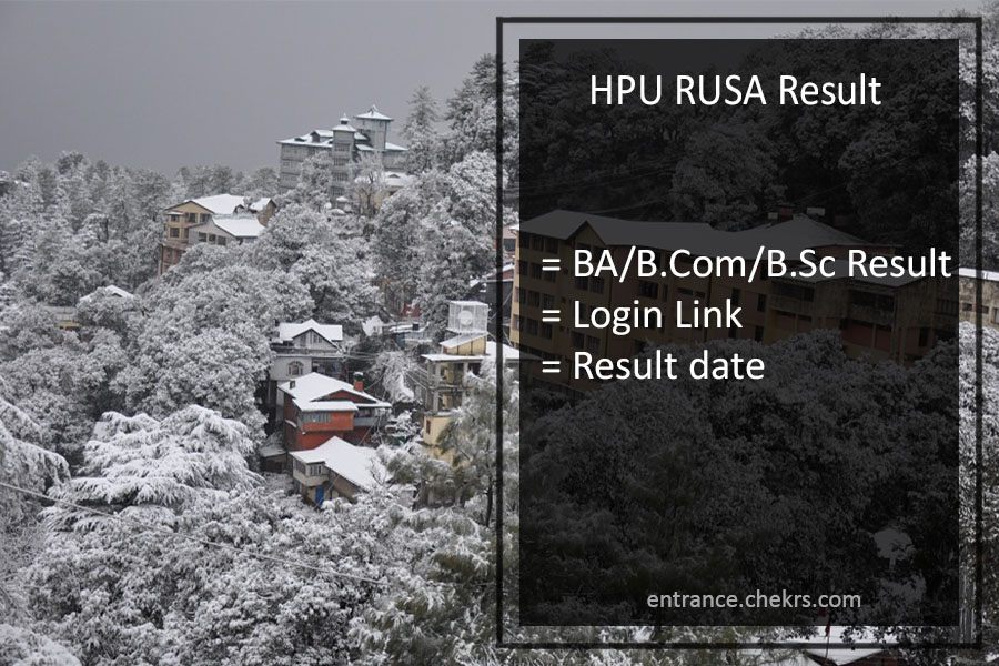HPU RUSA Result- hpuniv.in BA BSC BCOM 2nd 4th 6th Sem Results